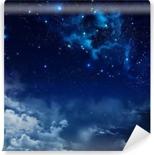 beautiful background of the night sky with stars Self-Adhesive Wall Mural