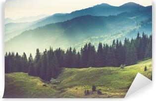 Beautiful summer mountain landscape. Self-Adhesive Wall Mural