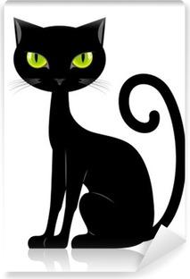 Black cat Self-Adhesive Wall Mural