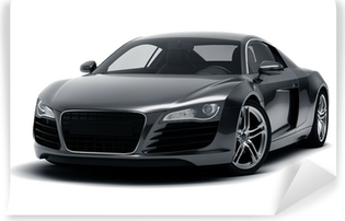 Black Sports Car Self-Adhesive Wall Mural