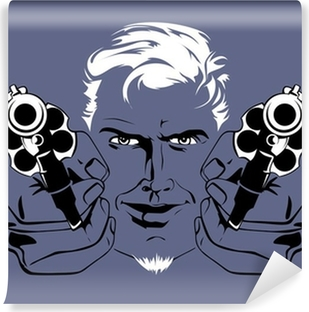 blond gangster man Self-Adhesive Wall Mural