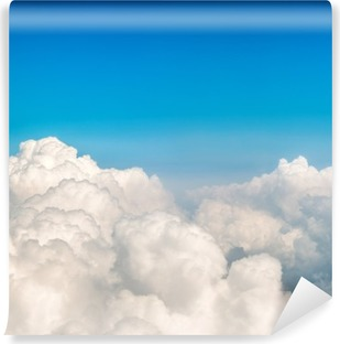 Blue clouds and sky Self-Adhesive Wall Mural