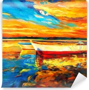 Boats Self-Adhesive Wall Mural