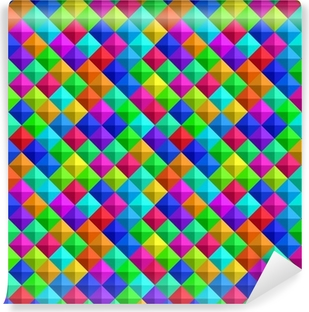 Bold Colorful 3-d Background Self-Adhesive Wall Mural