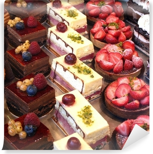 cake and pastry display Self-Adhesive Wall Mural