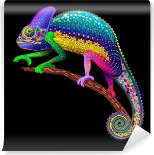 Chameleon Fantasy Rainbow Colors Self-Adhesive Wall Mural