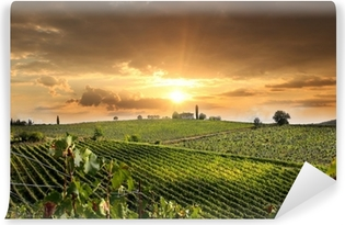 Chianti vineyard landscape in Tuscany, Italy Self-Adhesive Wall Mural