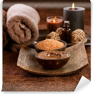 Chocolate Spa Self-Adhesive Wall Mural