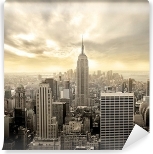 Cloudy sky over Manhattan Self-Adhesive Wall Mural