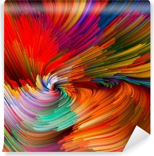 Color Vortex Composition Self-Adhesive Wall Mural