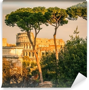 Colosseum at sunset Self-Adhesive Wall Mural