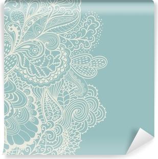 Decorative element border. Abstract invitation card. Template wa Self-Adhesive Wall Mural