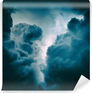 Dramatic Clouds Background Self-Adhesive Wall Mural