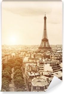 Eiffel from the Arch of Triumph Self-Adhesive Wall Mural