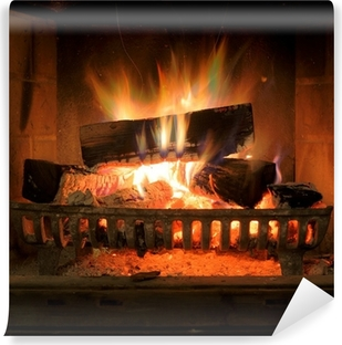 Fireplace Self-Adhesive Wall Mural