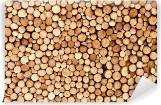 Firewood texture Self-Adhesive Wall Mural