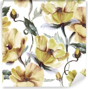 Floral Seamless Pattern Self-Adhesive Wall Mural