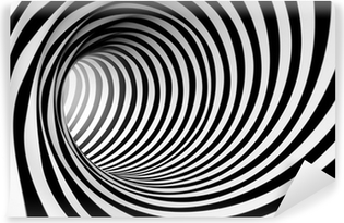 Fondo espiral abstracta 3d en blanco y negro Self-Adhesive Wall Mural