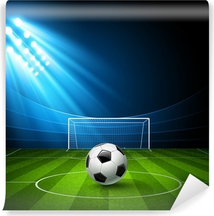 Football arena with a soccer ball. Vector Self-Adhesive Wall Mural