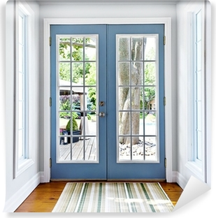 French patio glass door Self-Adhesive Wall Mural
