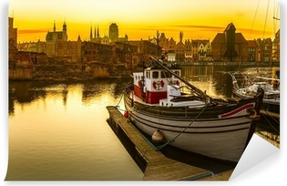 Gdansk at sunset Self-Adhesive Wall Mural
