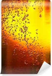 Glass of beer with bubbles Self-Adhesive Wall Mural