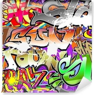 Graffiti urban art seamless background Self-Adhesive Wall Mural