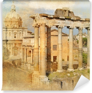 great antique Rome - Forum , artwork in retro style Self-Adhesive Wall Mural
