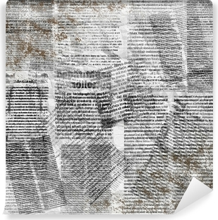 Grunge abstract newspaper background for design with old torn po Self-Adhesive Wall Mural