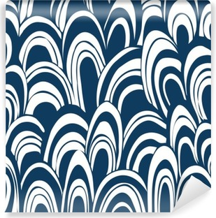 Hand drown seamless pattern Self-Adhesive Wall Mural
