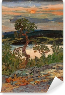 Helmer Osslund - Evening in Ångermanland Self-Adhesive Wall Mural