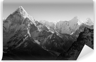 Himalaya Mountains Black and White Self-Adhesive Wall Mural