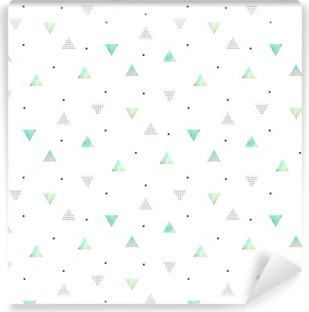 Hipster pattern with triangles texture hologram Self-Adhesive Wall Mural