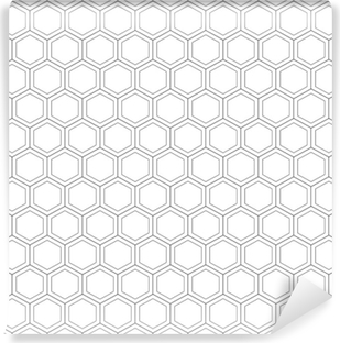 Honeycomb seamless pattern.Vector illustration.Hexagonal texture. Grid on white background. Geometric design. Modern stylish abstract texture. Template for print, textile, wrapping and decoration Self-Adhesive Wall Mural