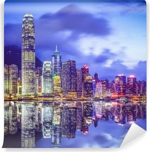Hong Kong, China City Skyline Self-Adhesive Wall Mural