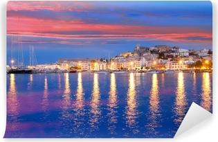 Ibiza island night view of Eivissa town Self-Adhesive Wall Mural