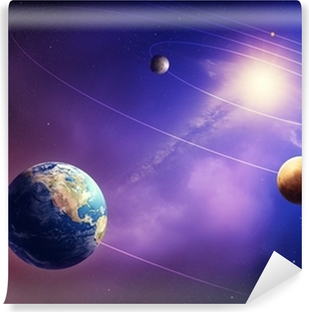 Inner solar system planets Self-Adhesive Wall Mural