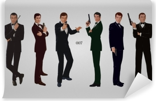 James Bond Self-Adhesive Wall Mural