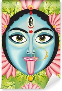 Kali - Indian Goddess face. Self-Adhesive Wall Mural