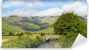 Lake District panorama Mickleden Beck river Langdale Valley Self-Adhesive Wall Mural