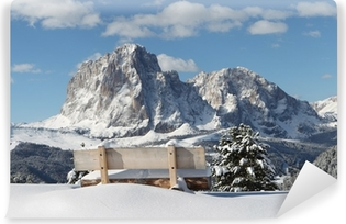 Langkofel Berg der Dolomiten Self-Adhesive Wall Mural