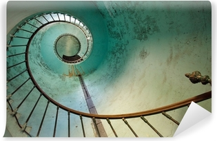 lighthouse staircase Self-Adhesive Wall Mural