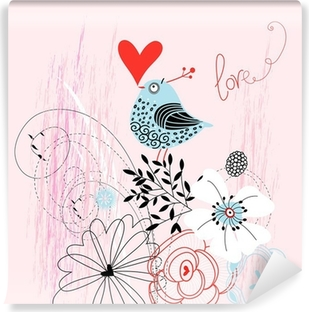 love bird Self-Adhesive Wall Mural