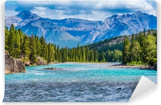 Lovely Canadian mountain landscape Self-Adhesive Wall Mural