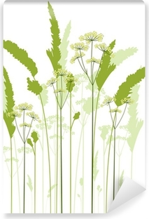 meadow grass Self-Adhesive Wall Mural