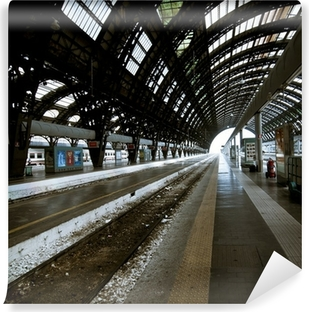 Milan station architecture Self-Adhesive Wall Mural