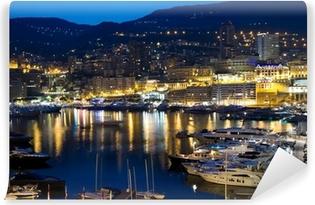 Monaco at night Self-Adhesive Wall Mural