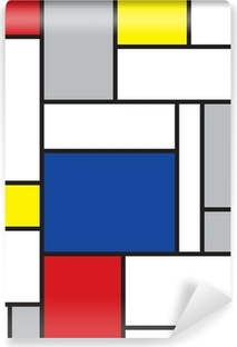 mondrian inspired art Self-Adhesive Wall Mural