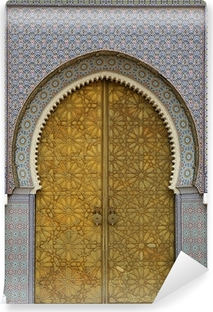 moroccan entrance (3) Self-Adhesive Wall Mural