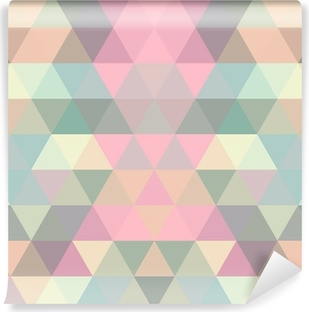 Mosaic triangle background. Geometric background Self-Adhesive Wall Mural